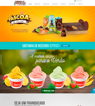 Site da Fábrica Di Chocolate